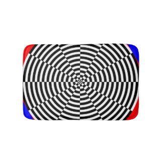 Schwarze u. weiße Strahlung durch Kenneth Yoncich Badematte