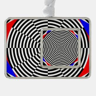 Schwarze u. weiße Strahlung Rahmen-Ornament Silber