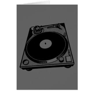 Schwarze u. weiße Turntable Grußkarte