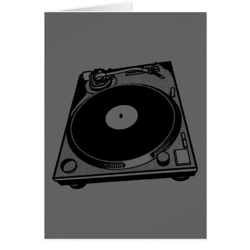 Schwarze u. weiße Turntable Karte
