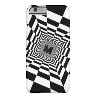 Schwarze u. weiße visuelle Illusion, Monogramm Barely There iPhone 6 Hülle