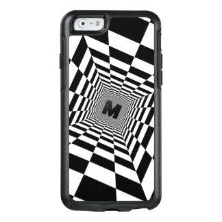 Schwarze u. weiße visuelle Illusion, Monogramm OtterBox iPhone 6/6s Hülle
