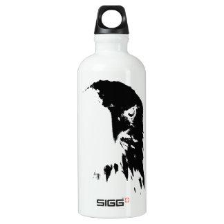 Schwarze u. weiße Weißkopfseeadler-Wasser-Flasche Aluminiumwasserflasche