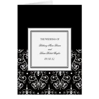 Schwarze u. weiße Zeremonie-Programme Karte