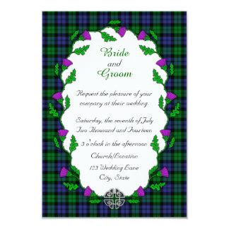 Schwarze Uhr-militärische keltische Hochzeit 8,9 X 12,7 Cm Einladungskarte