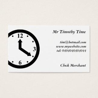 Schwarze Uhr Visitenkarte