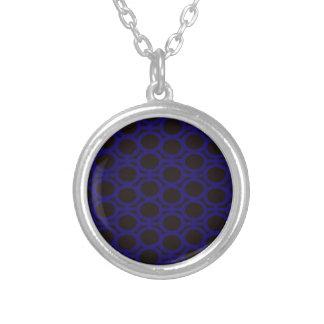 Schwarze und blaue Blasen-Ösen Halskette Mit Rundem Anhänger