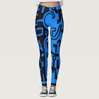 Schwarze und blaue Gamaschen Paul Klees Leggings