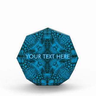 Schwarze und blaue Kaleidoskop-Preise. 2 Formen Acryl Auszeichnung