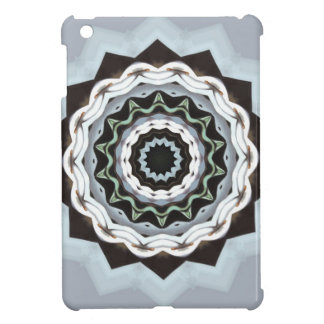 Schwarze und blaue Mandala iPad Mini Hülle