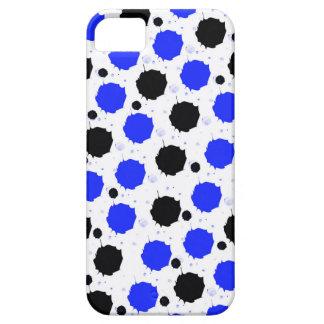 Schwarze und blaue Spritzen-Punkte iPhone 5 Schutzhülle