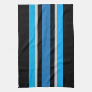 Schwarze und blaue Streifen-Geschirrtuch - Geschirrtuch