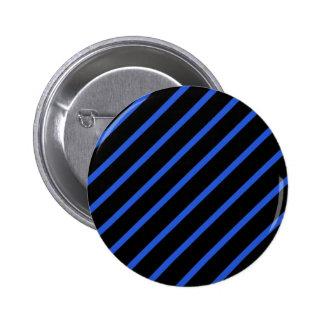 Schwarze und blaue Streifen Runder Button 5,7 Cm