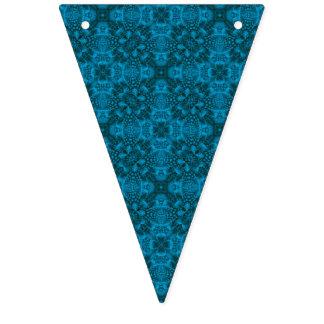 Schwarze und blaue Vintage Wimpelketten
