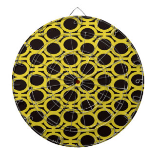 Schwarze und gelbe Blasen-Ösen Dart-scheibe