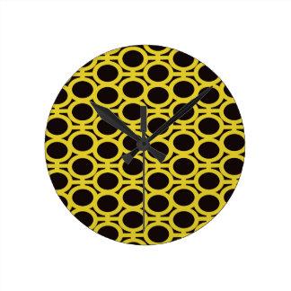 Schwarze und gelbe Blasen-Ösen Uhr