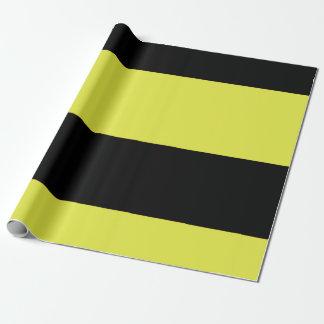 Schwarze und gelbe Streifen Geschenkpapier