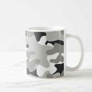 Schwarze und graue Camouflage Kaffeetasse