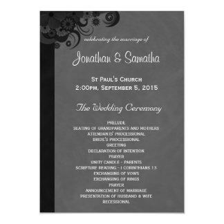 Schwarze und graue gotische Hochzeits-mit 12,7 X 17,8 Cm Einladungskarte