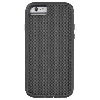 Schwarze und graue Kohlenstoff-Faser-Muster-Basis Tough Xtreme iPhone 6 Hülle
