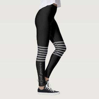 Schwarze und graue oder kundenspezifische Farbe Leggings