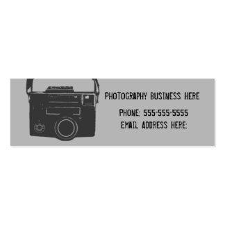Schwarze und graue Retro Film-Kamera-Visitenkarte Jumbo-Visitenkarten