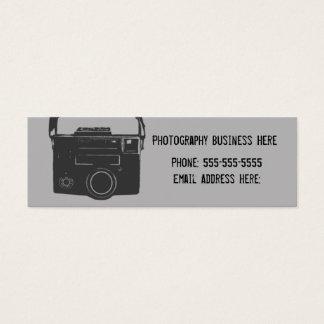 Schwarze und graue Retro Film-Kamera-Visitenkarte Mini Visitenkarte