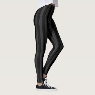 Schwarze und graue schmale Streifen Leggings