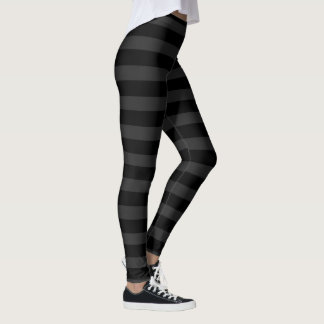 Schwarze und graue Streifen Leggings