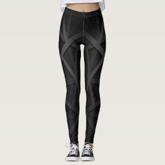 Schwarze und graue Trainings-Gamaschen Leggings