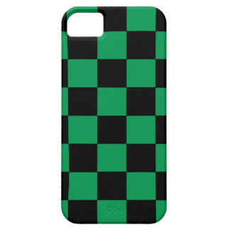 Schwarze und grüne Checkered iPhone5/5S Hüllen iPhone 5 Cover