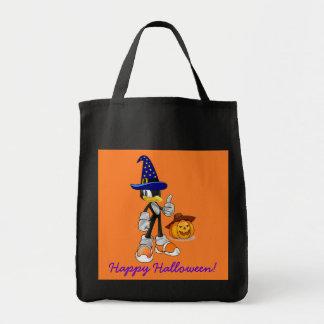 Schwarze und orange Halloween-Leckerei sackt Tasche