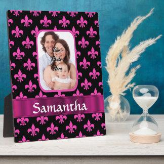Schwarze und rosa Lilie Fotoplatte