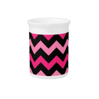 Schwarze und rosa Streifen Getränke Pitcher