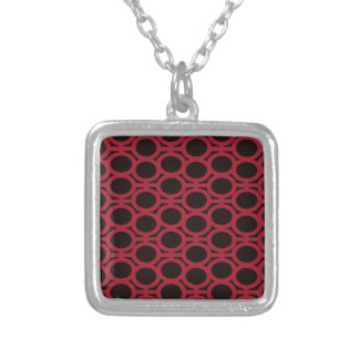 Schwarze und rote Blasen-Ösen Halskette Mit Quadratischem Anhänger