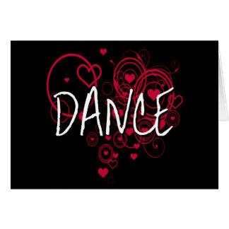Schwarze und rote Tanz-Herzen Karte