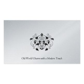 Schwarze und silberne Platin-Visitenkarte