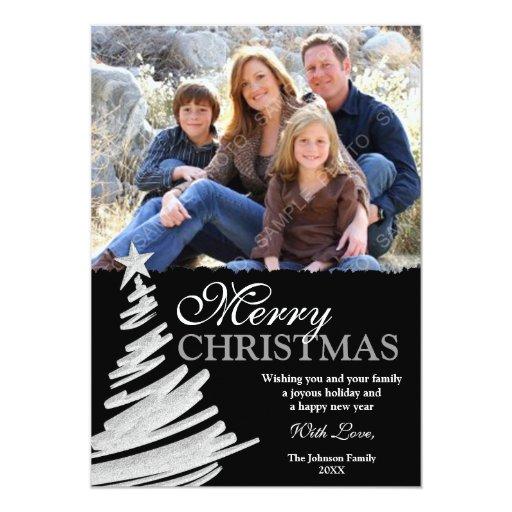 schwarze und silberne weihnachtsbaum feiertags fot. Black Bedroom Furniture Sets. Home Design Ideas