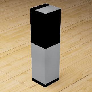 Schwarze und silberne Wein-Geschenkboxen Wein-Geschenkverpackung
