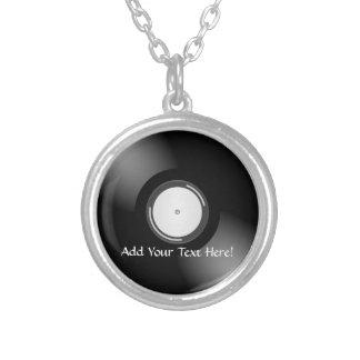 Schwarze Vinylaufzeichnungs-personalisierte Amuletten