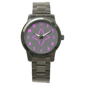 Schwarze violette Uhr