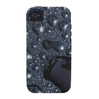 Schwarze Wassertropfen iPhone 4/4S Cover