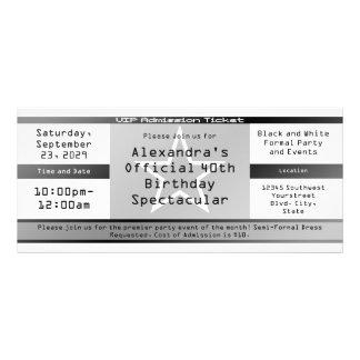 Schwarze weiße Karten-Art-Einladung oder Karte Kartendruck