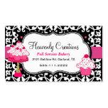 Schwarze, weiße und rosa visitenkarten vorlagen