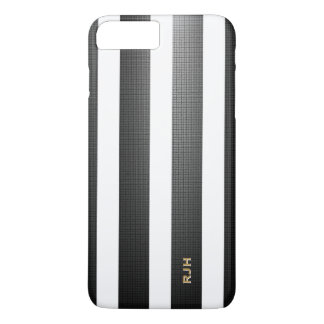Schwarze/weiße vertikale Streifen, addieren iPhone 8 Plus/7 Plus Hülle