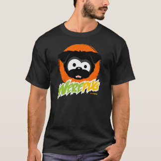 Schwarze WerePug Dunkelheits-T-Shirts T-Shirt