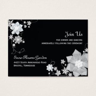 Schwarze Winter-Hochzeits-Empfangs-Einschließung n Visitenkarte