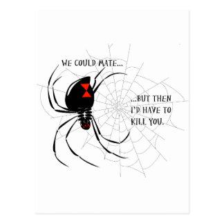 Schwarze Witwe Postkarte