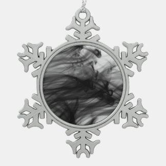 Schwarze Zinn-Schneeflocke-Verzierung des Feuer-I Schneeflocken Zinn-Ornament