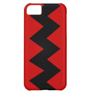 Schwärzen Sie auf rotem Zickzack iPhone 5 iPhone 5C Hülle